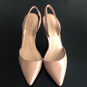 Banana Republic Patent Nude Sling Backs
